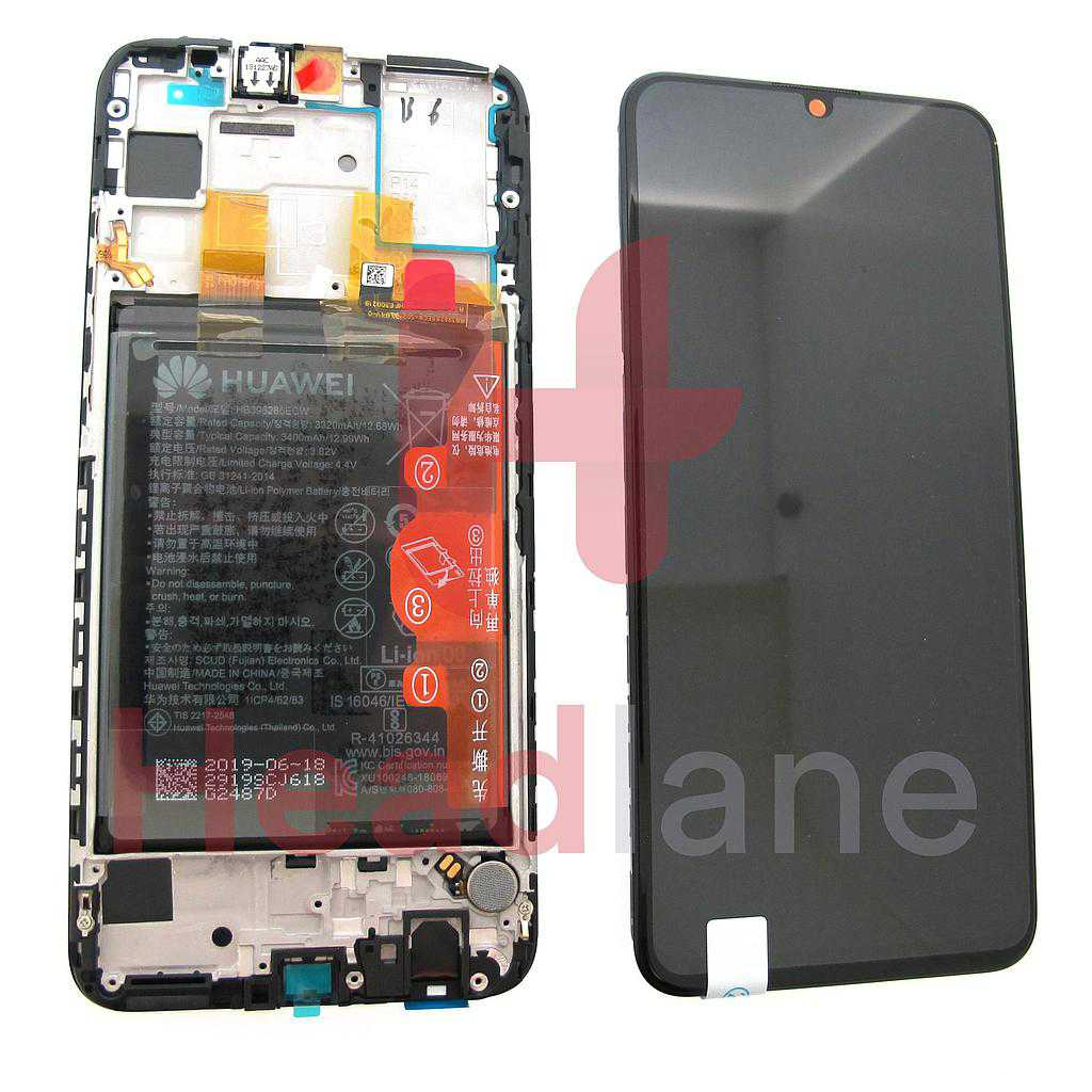 Huawei P Smart (2019) LCD / Screen + Touch + Battery Assembly - Black