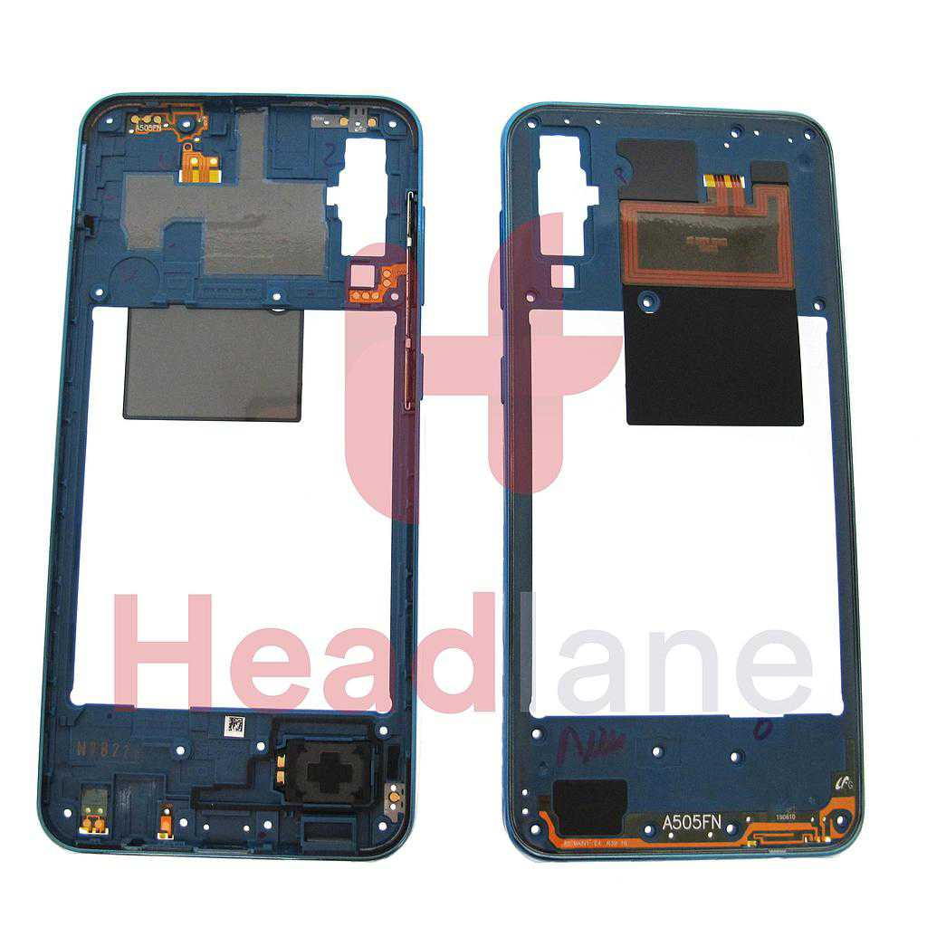 Samsung SM-A505 Galaxy A50 Middle Cover / Chassis - Blue