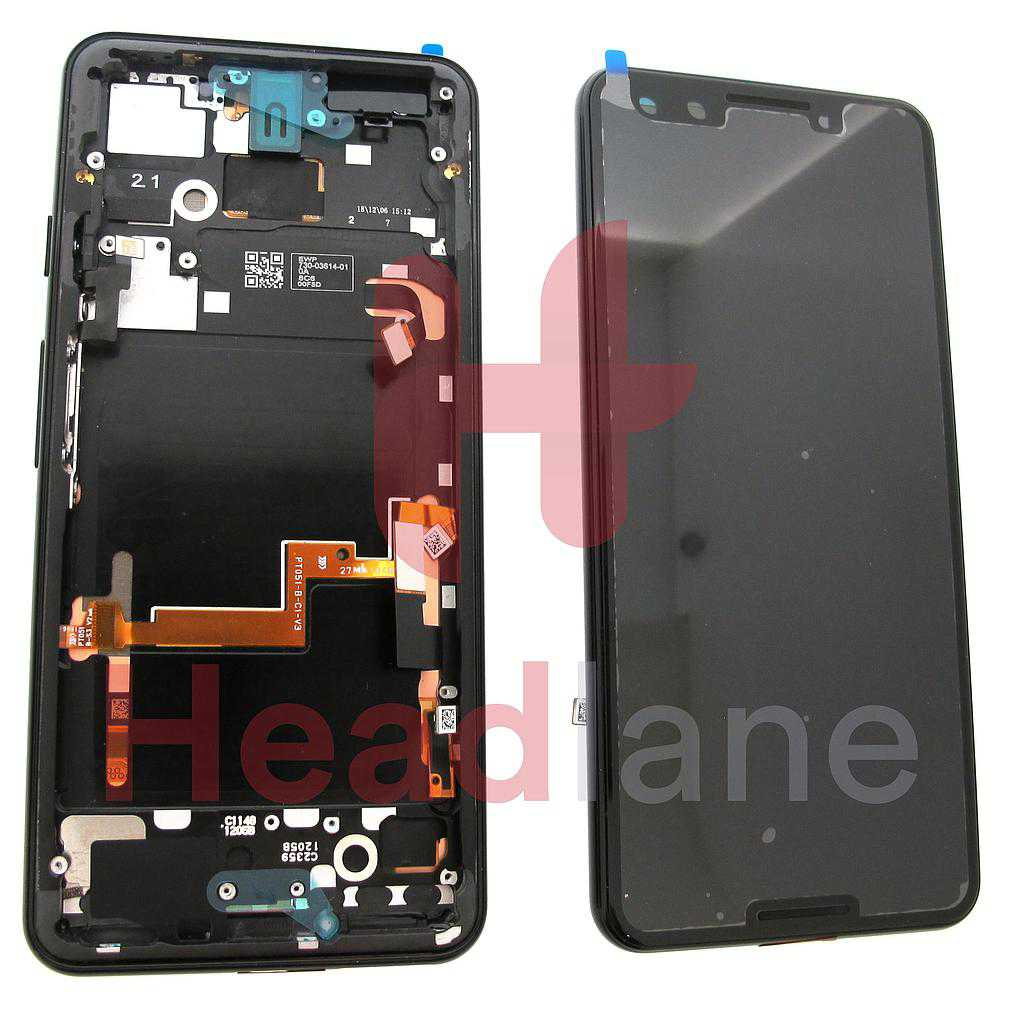 Google Pixel 3 LCD Display / Screen + Touch - Just Black