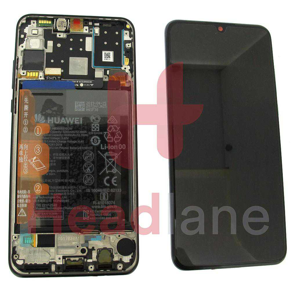 Huawei P30 Lite LCD Display / Screen + Touch + Battery Assembly - Black