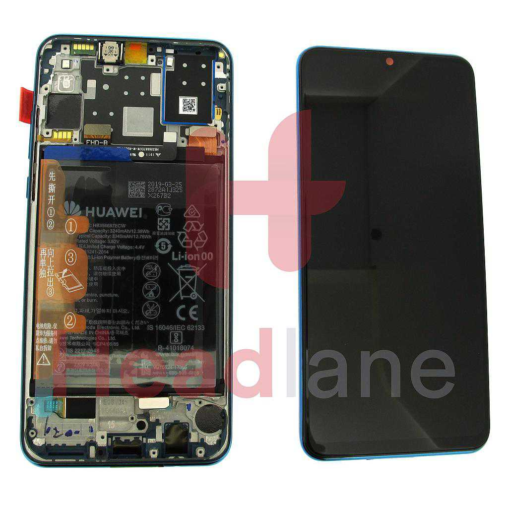 Huawei P30 Lite LCD Display / Screen + Touch + Battery Assembly - Blue