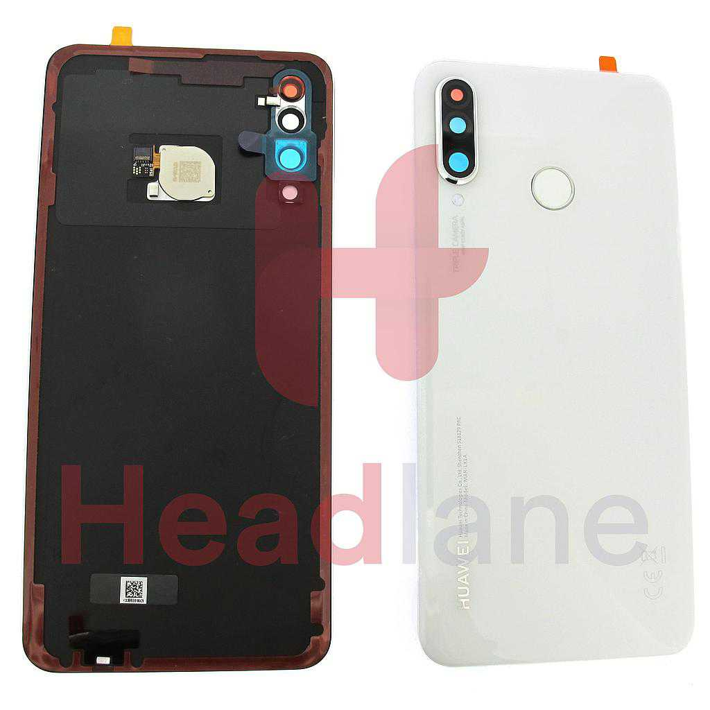 Huawei P30 Lite Back / Battery Cover + Fingerprint Sensor - Pearl White
