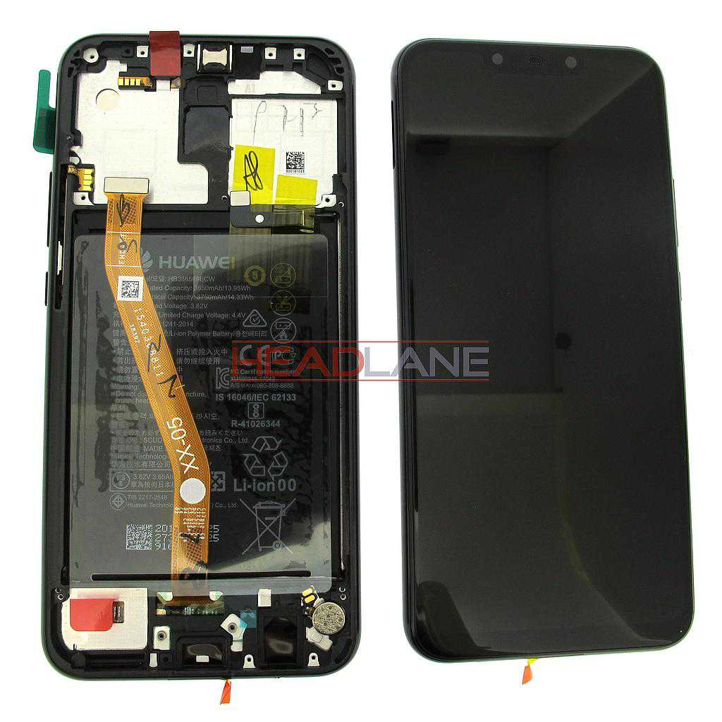 Huawei Mate 20 Lite LCD Display / Screen + Touch + Battery Assembly - Black