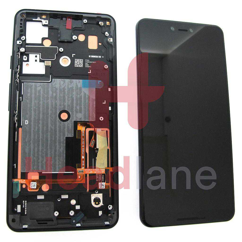 Google Pixel 3 XL LCD Display / Screen + Touch - Just Black