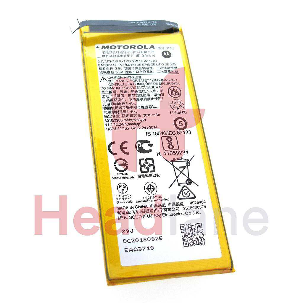 Lenovo / Motorola XT1926 Moto G6 Plus JT40 3200mAh Battery