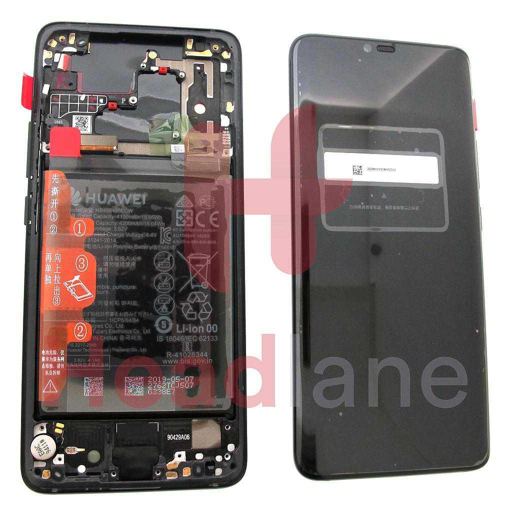 Huawei Mate 20 Pro (Porsche Design) LCD Display / Screen + Touch + Battery - Black