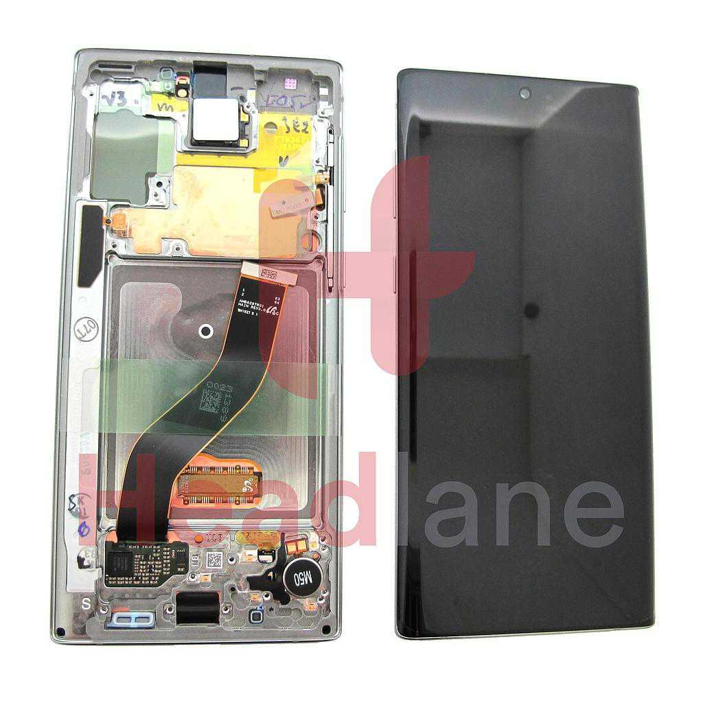 Samsung SM-N970 Galaxy Note 10 LCD Display / Screen + Touch - Aura Glow / Silver