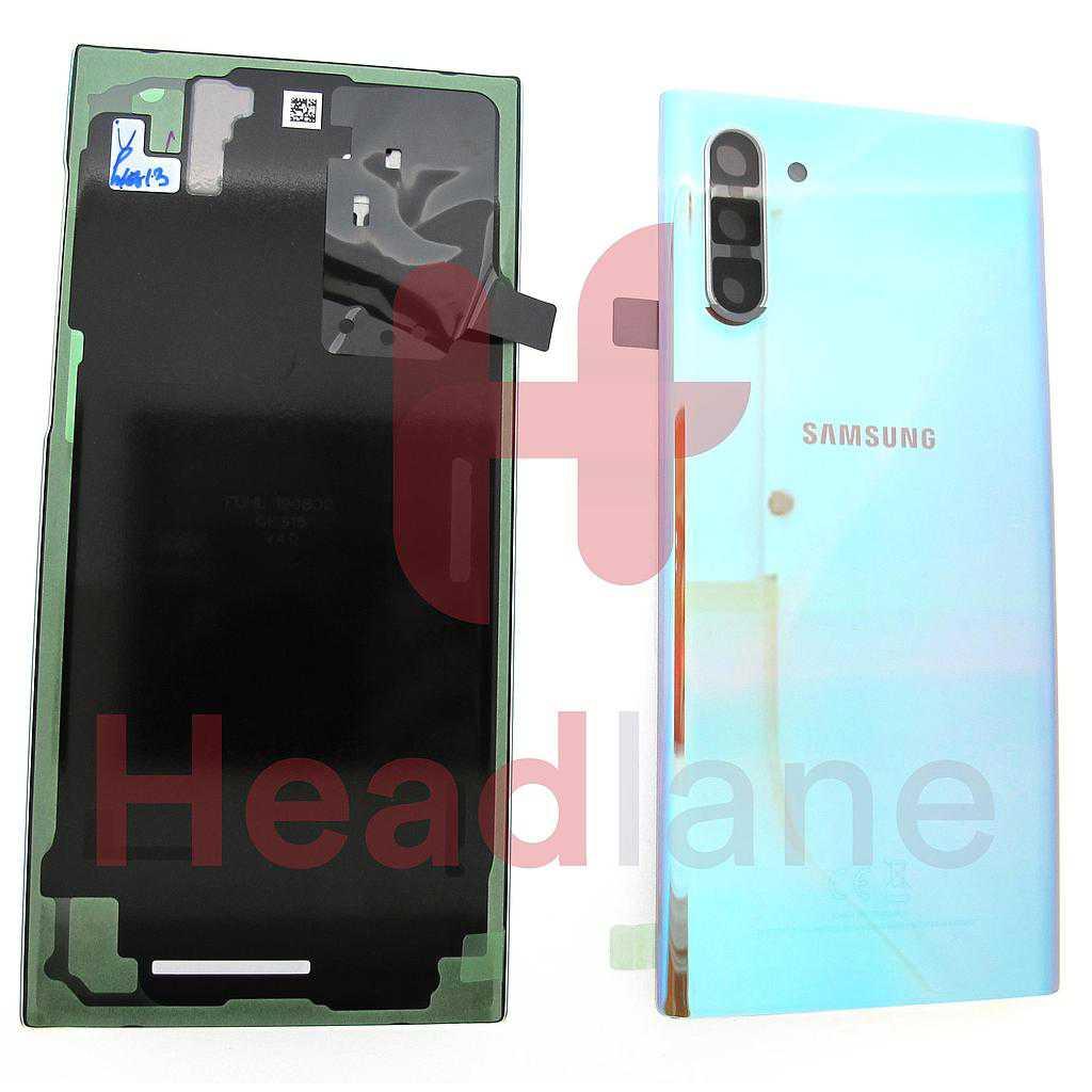 Samsung SM-N970 Galaxy Note 10 Back / Battery Cover - Aura Glow / Silver