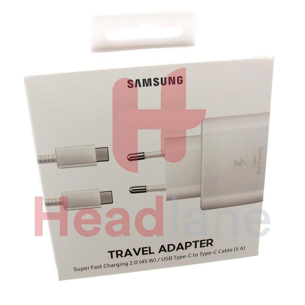 Samsung EP-TA845 45W USB Type C Mains Charger (EU 2Pin) - White