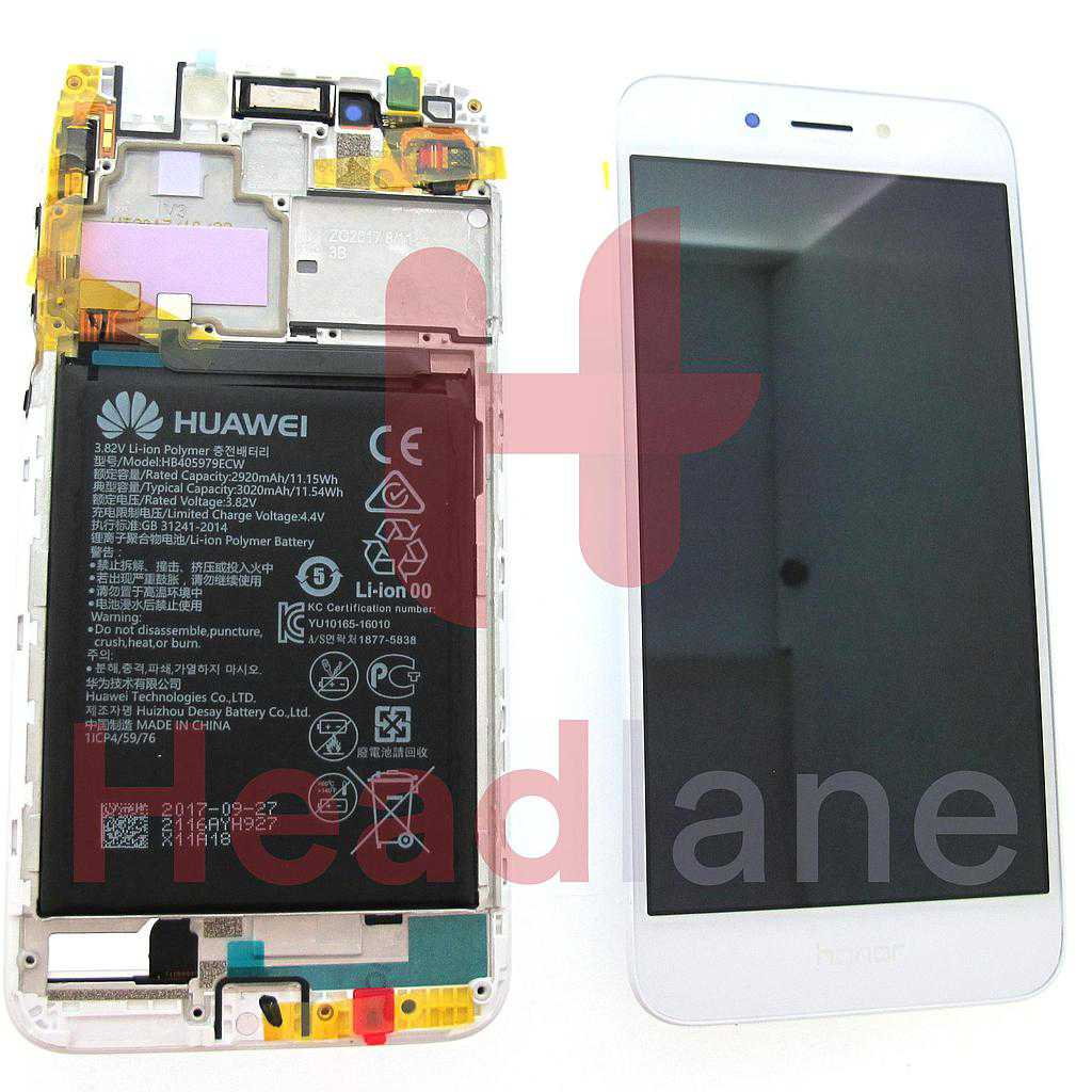Huawei Honor 6A LCD Display / Screen + Touch - Battery - Gold / Silver