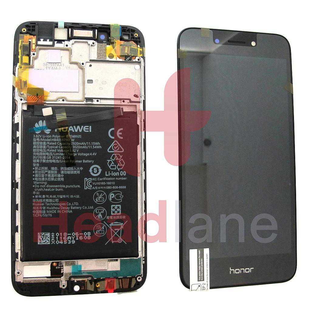 Huawei Honor 6A LCD Display / Screen + Touch - Battery - Grey