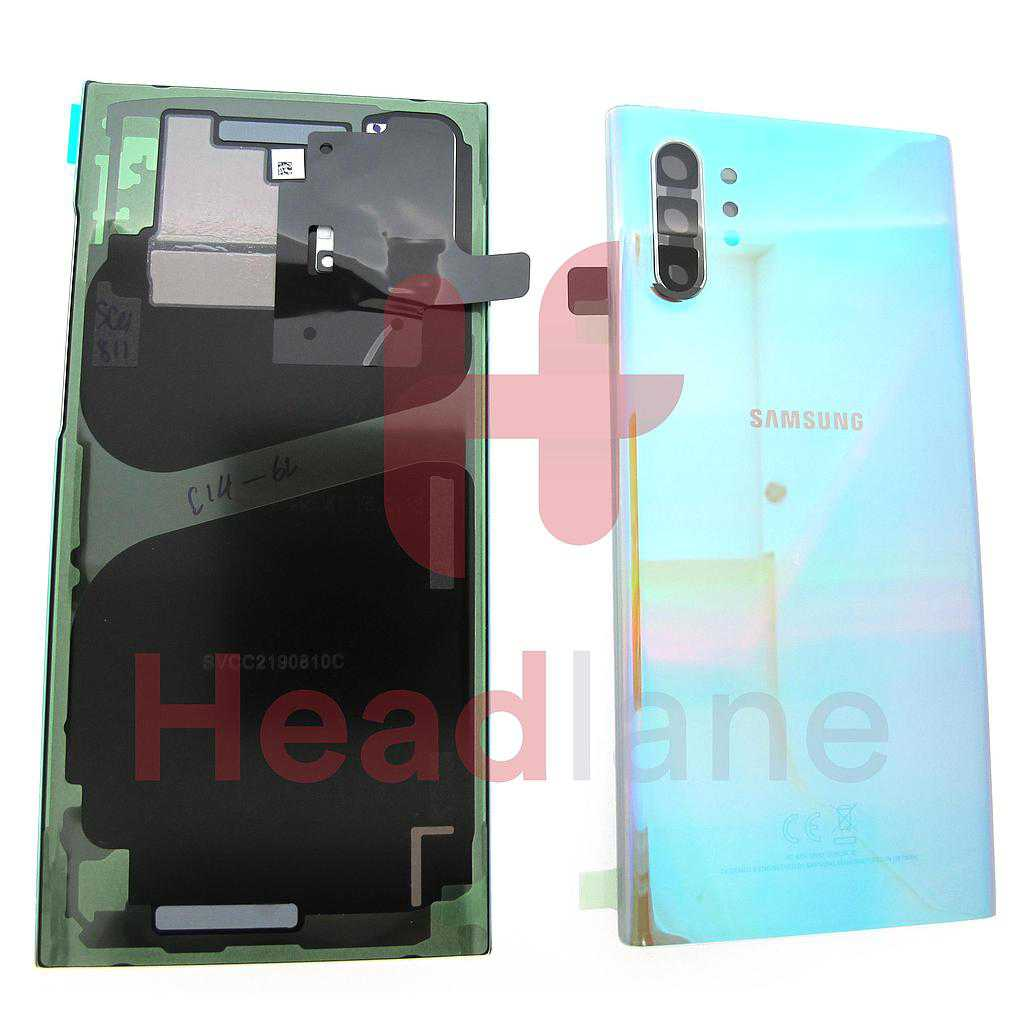 Samsung SM-N975 Galaxy Note 10+ / Note 10 Plus Back / Battery Cover - Aura Glow / Silver