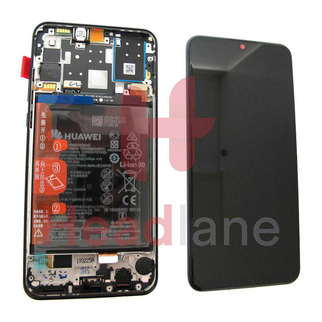 Huawei P30 Lite (NFC / 32MP Front Camera Version) LCD Display / Screen + Touch + Battery Assembly - Black