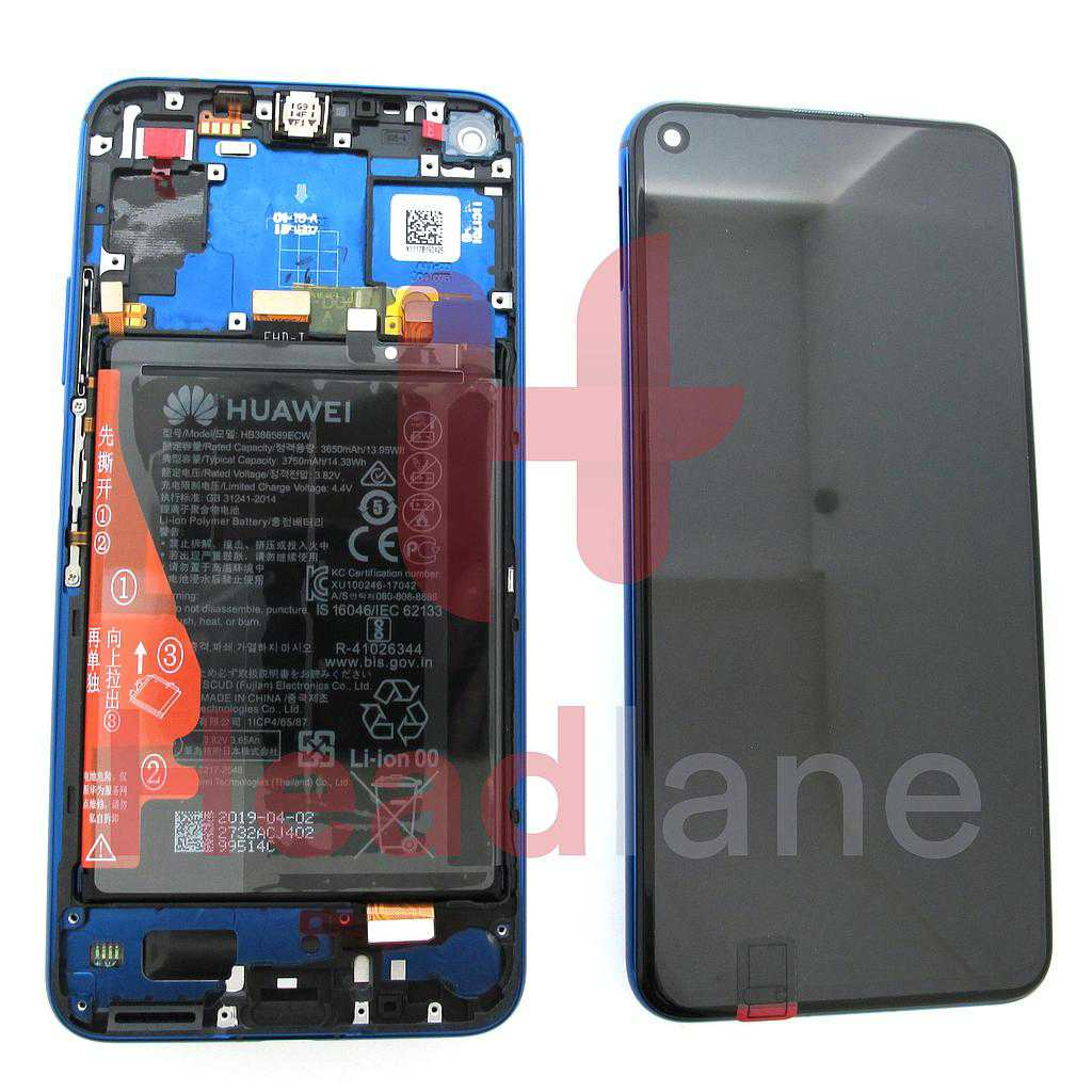 Huawei Honor 20 / Nova 5T LCD Display / Screen + Touch + Battery - Blue