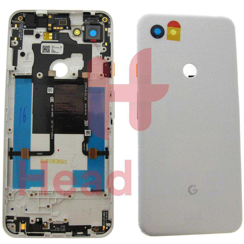 Google Pixel 3a XL Back / Battery Cover - Clearly White