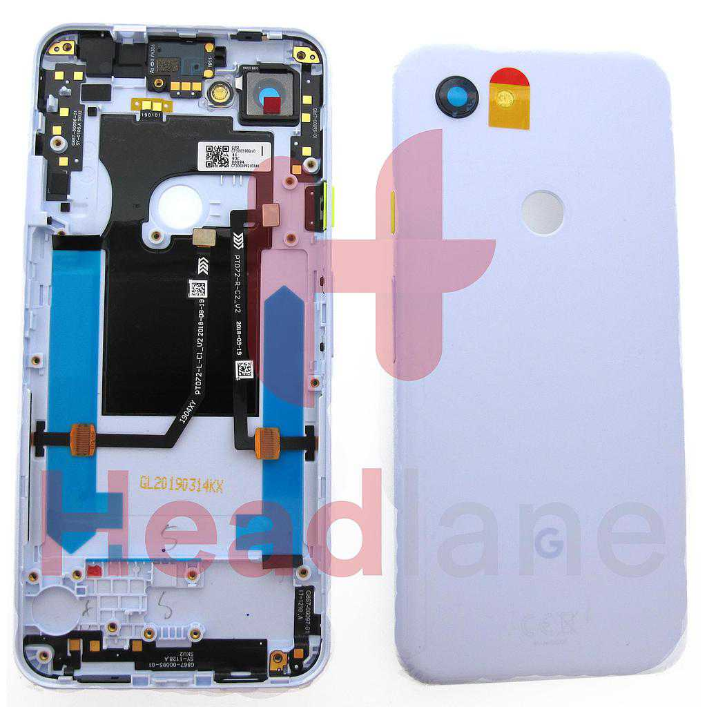 Google Pixel 3a Back / Battery Cover - Purple-ish