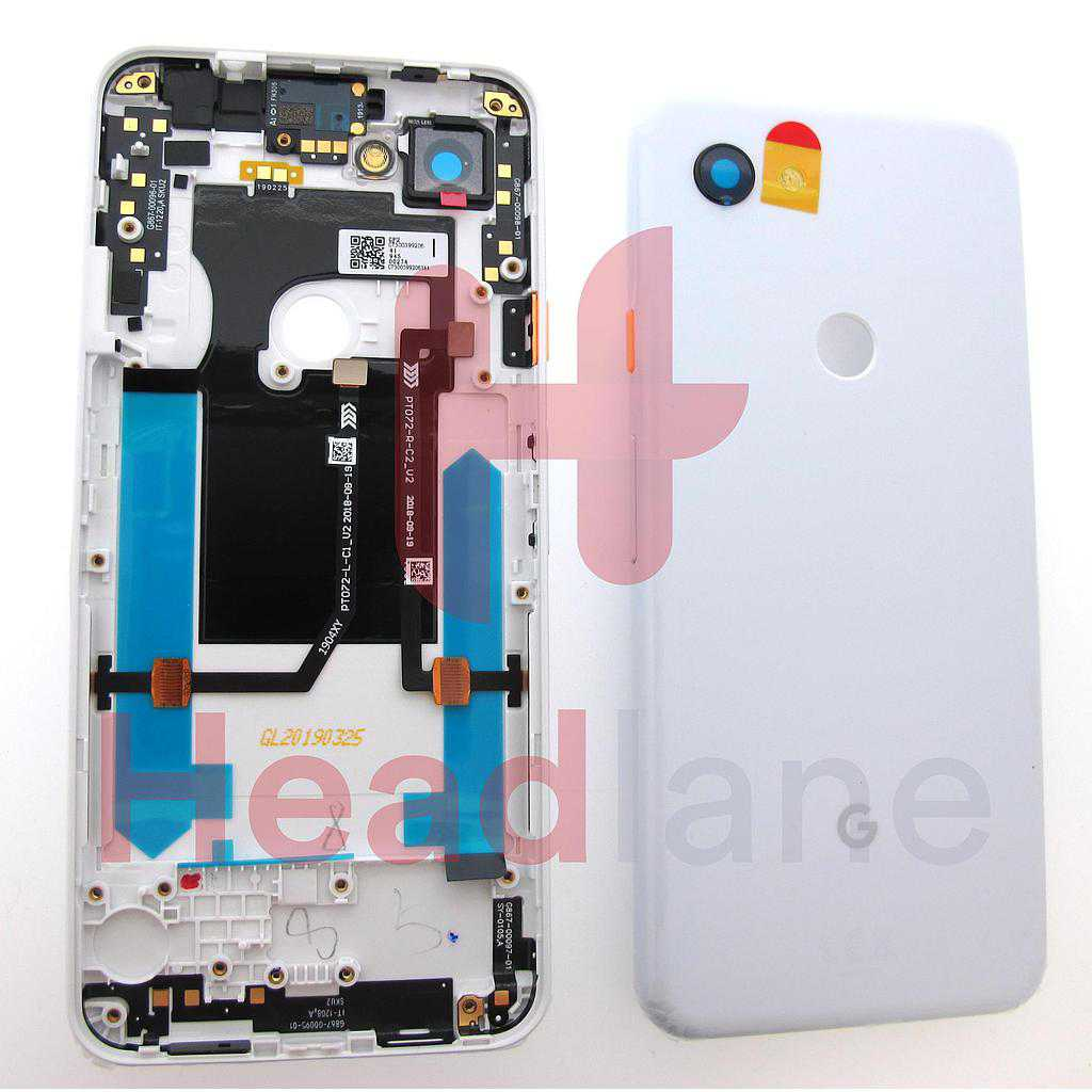 Google Pixel 3a Back / Battery Cover - Clearly White