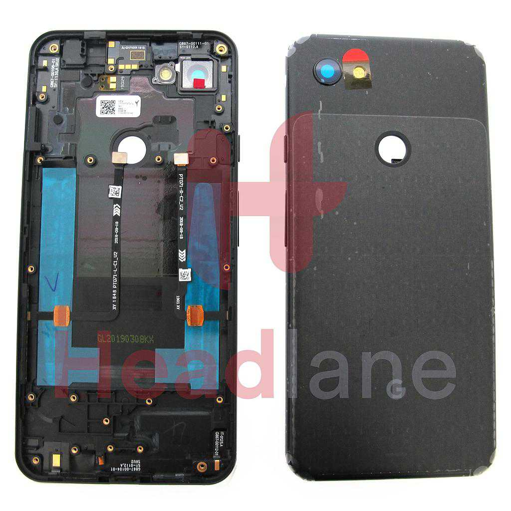 Google Pixel 3a XL Back / Battery Cover - Licorice Black