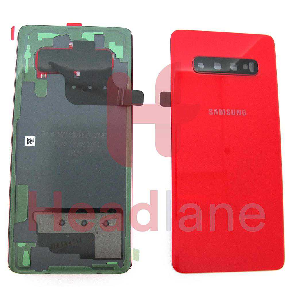 Samsung SM-G975 Galaxy S10+ / S10 Plus Back / Battery Cover - Cardinal Red