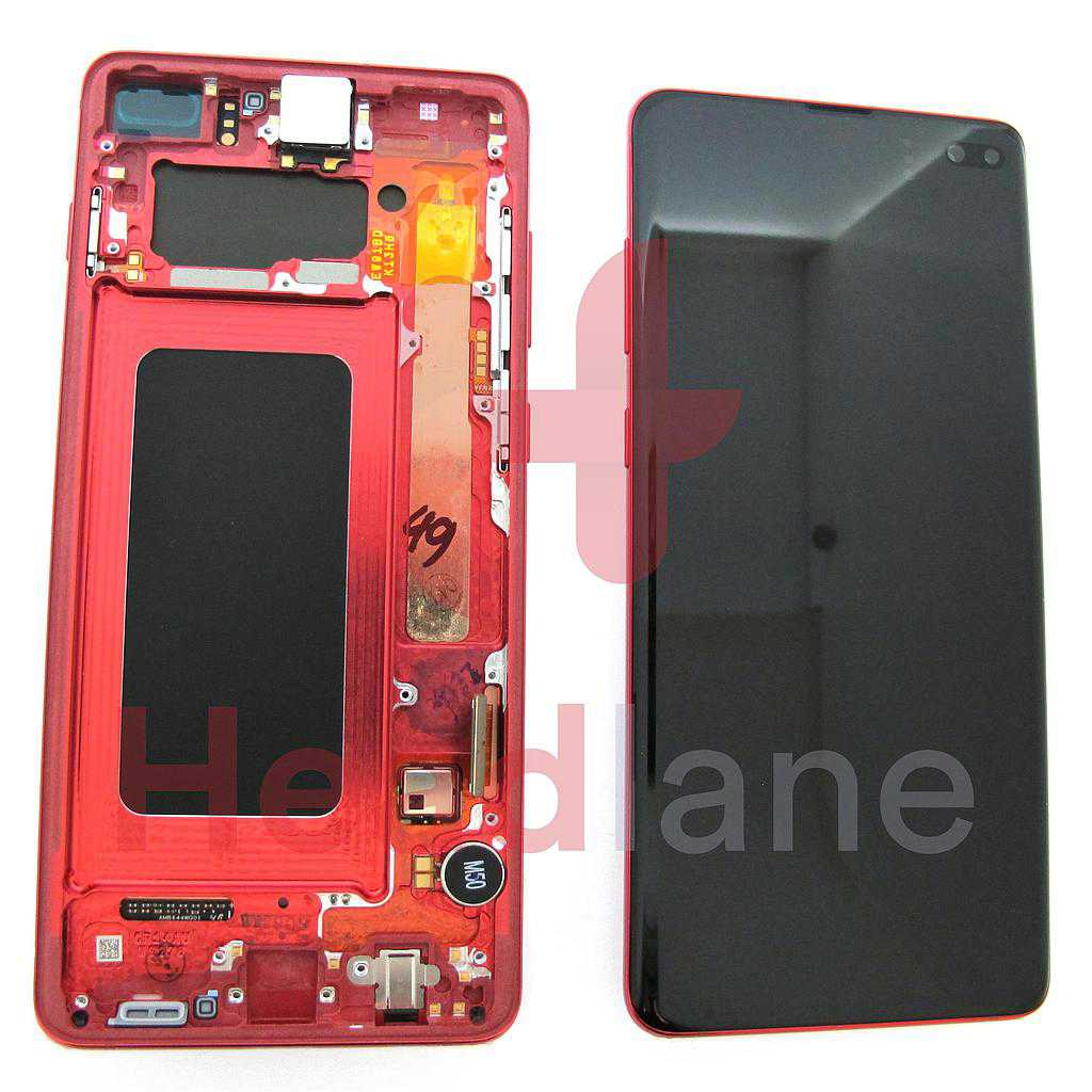 Samsung SM-G975 Galaxy S10+ / S10 Plus LCD Display / Screen + Touch - Cardinal Red