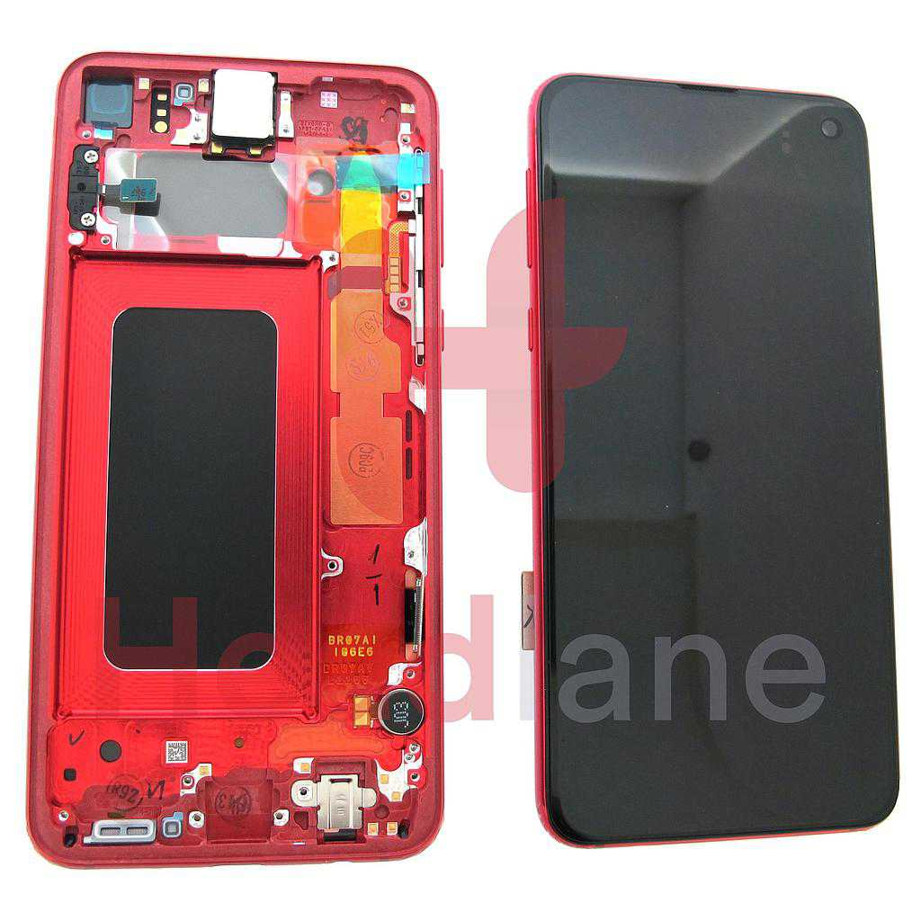 Samsung SM-G970 Galaxy S10E LCD Display / Screen + Touch - Cardinal Red