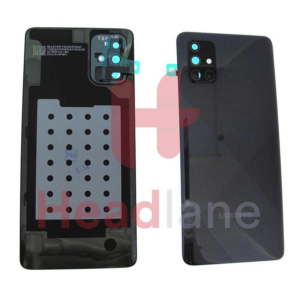 Samsung SM-A715 Galaxy A71 Back / Battery Cover - Black