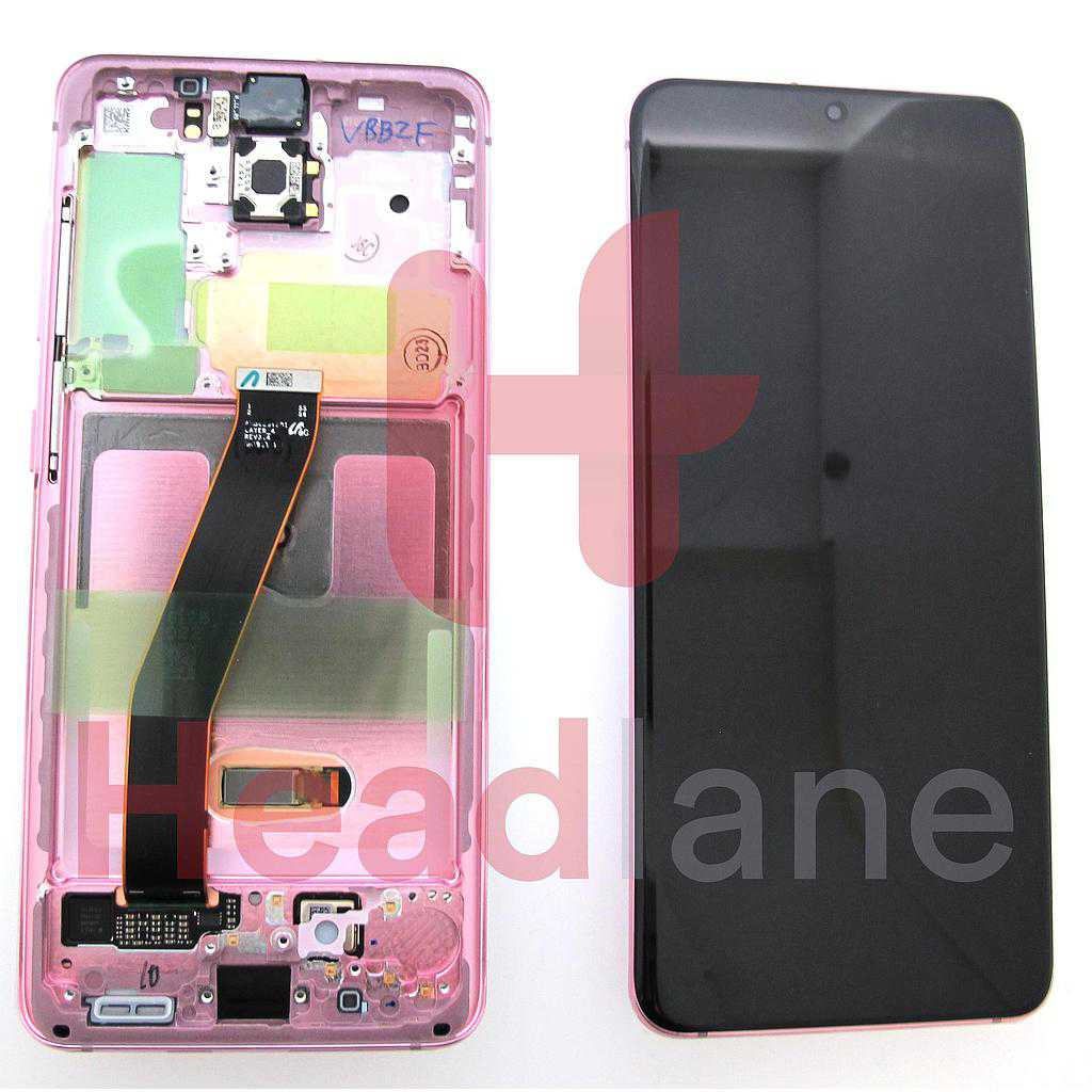 Samsung SM-G980 Galaxy S20 LCD Display / Screen + Touch - Pink