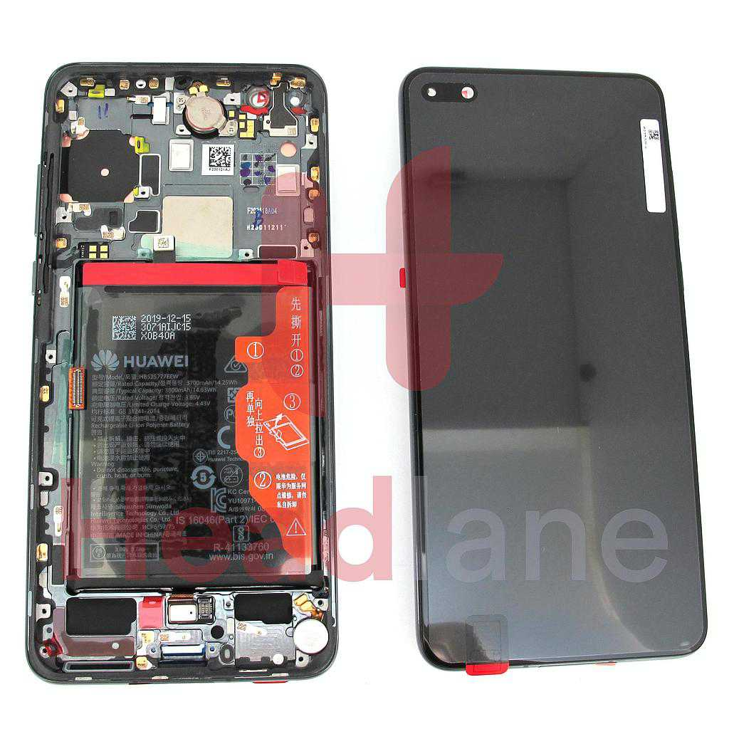 Huawei P40 LCD Display / Screen + Touch + Battery Assembly - Black
