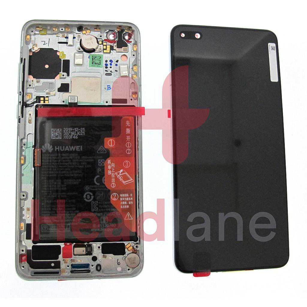 Huawei P40 LCD Display / Screen + Touch + Battery Assembly - Ice White