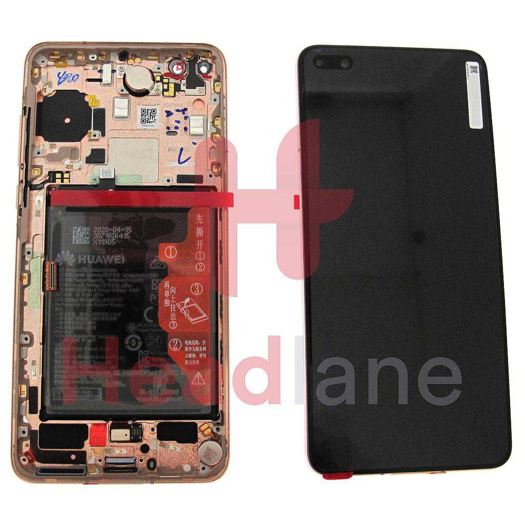 Huawei P40 LCD Display / Screen + Touch + Battery Assembly - Blush Gold