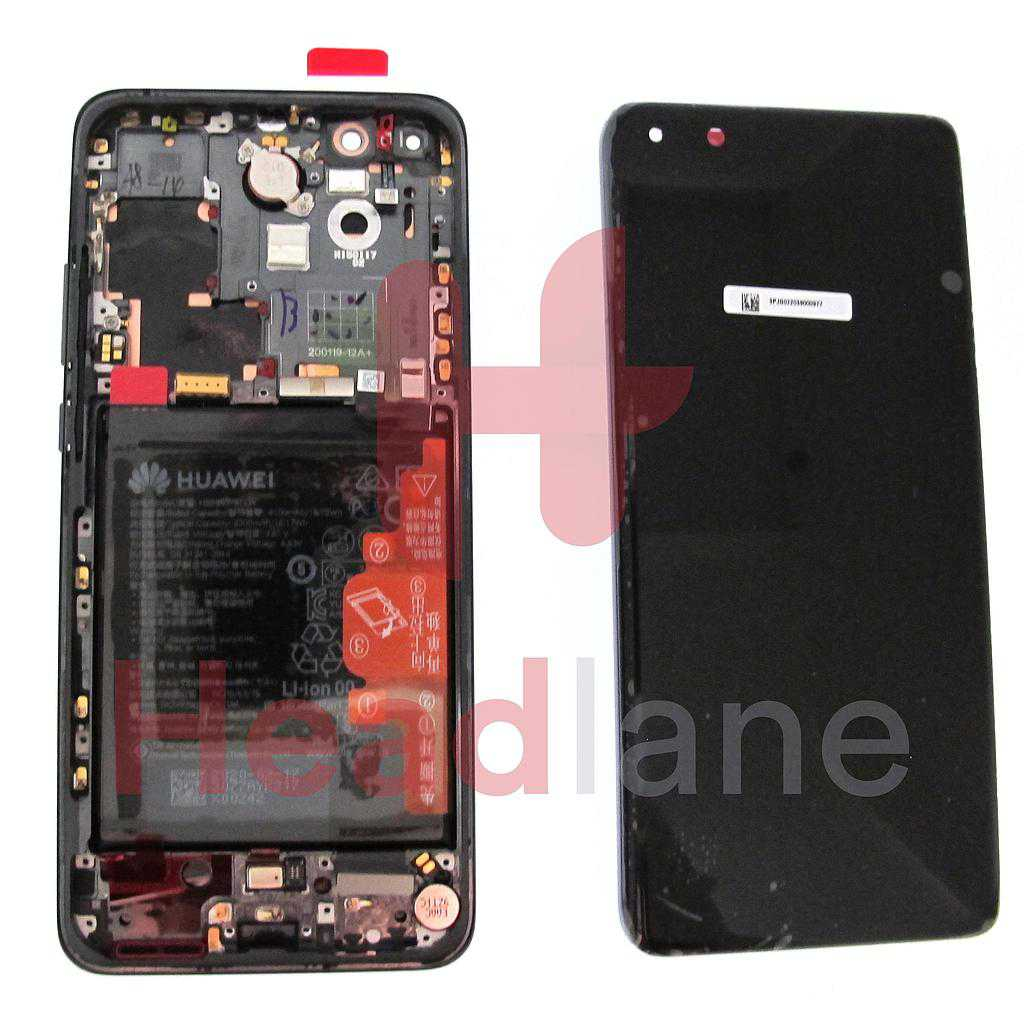 Huawei P40 Pro LCD Display / Screen + Touch + Battery Assembly - Black