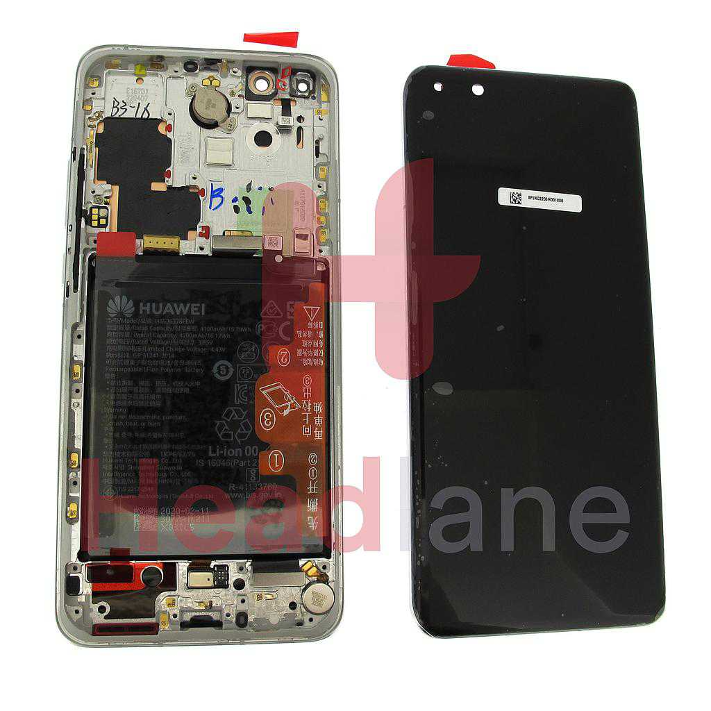Huawei P40 Pro LCD Display / Screen + Touch + Battery Assembly - Ice White