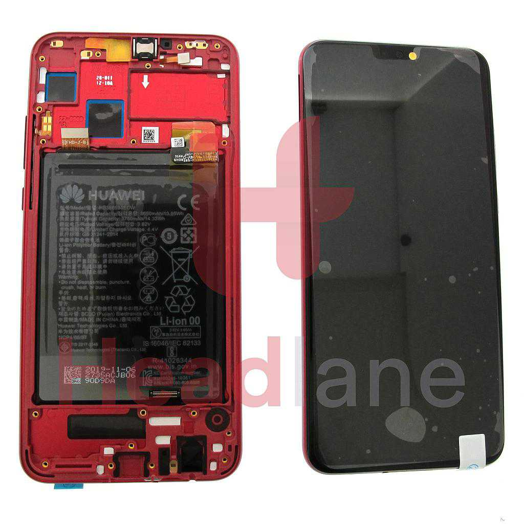 Huawei Honor 8X LCD Display / Screen + Touch + Battery Assembly - Red