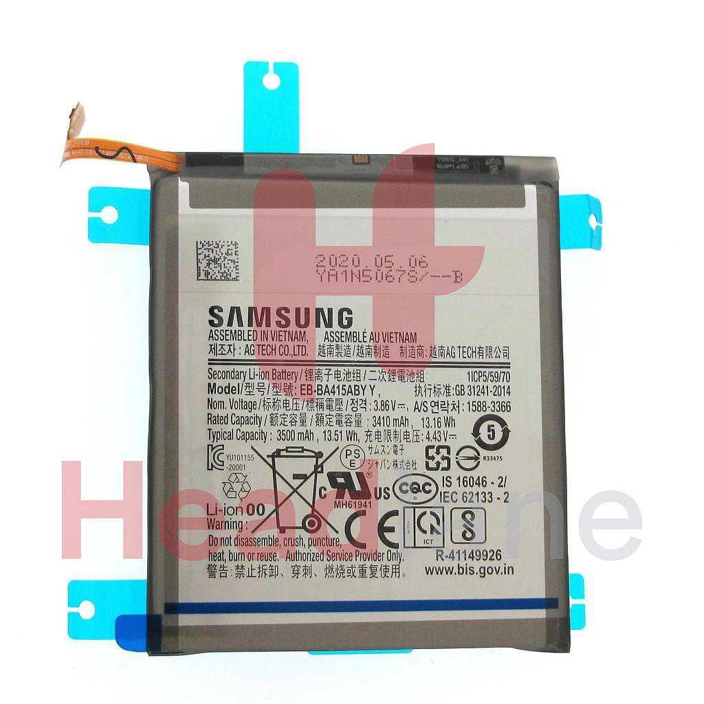 Samsung SM-A415 Galaxy A41 EB-BA415ABY Internal Battery