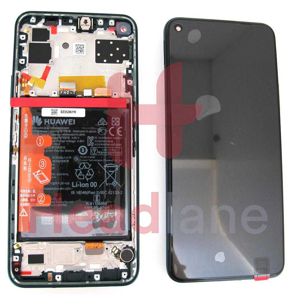 Huawei P40 Lite 5G LCD Display / Screen + Touch + Battery Assembly - Crush Green