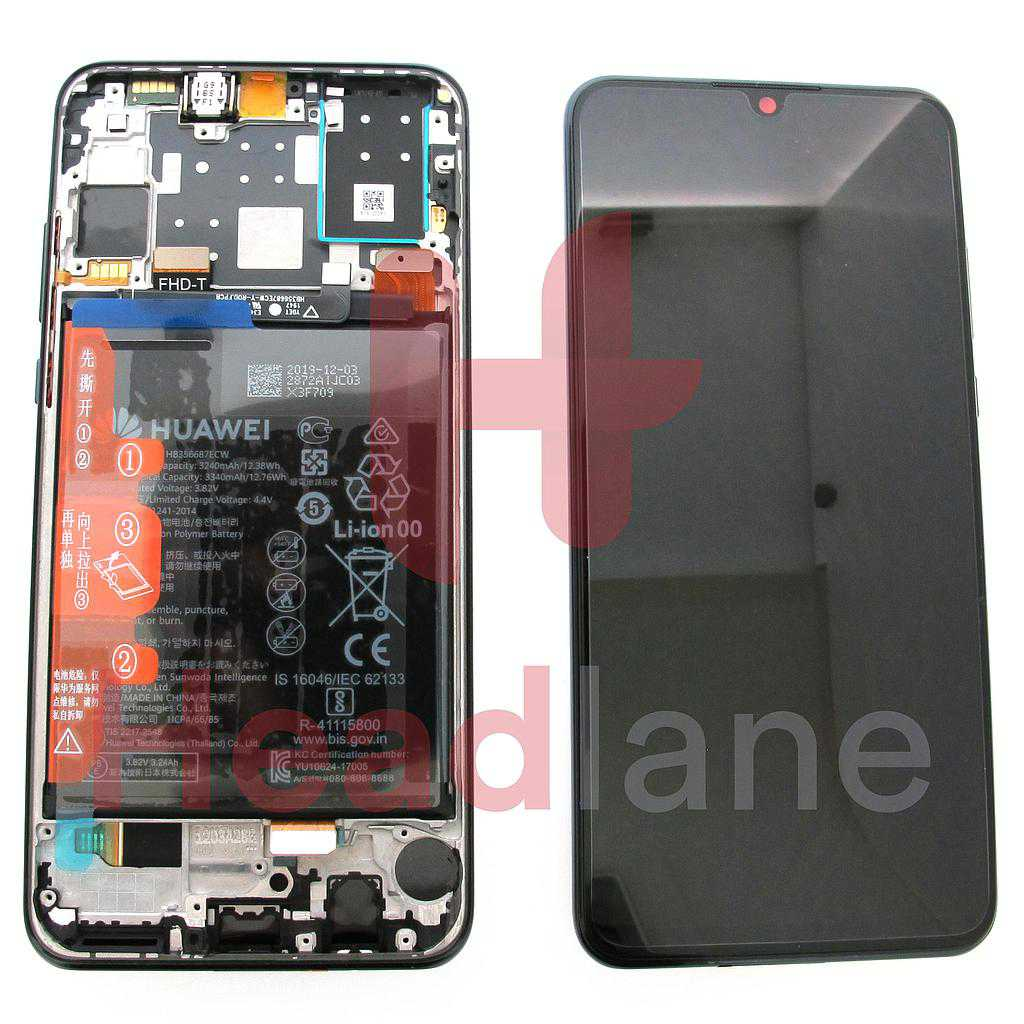 Huawei P30 Lite (New Edition) LCD Display / Screen + Touch + Battery Assembly - Black