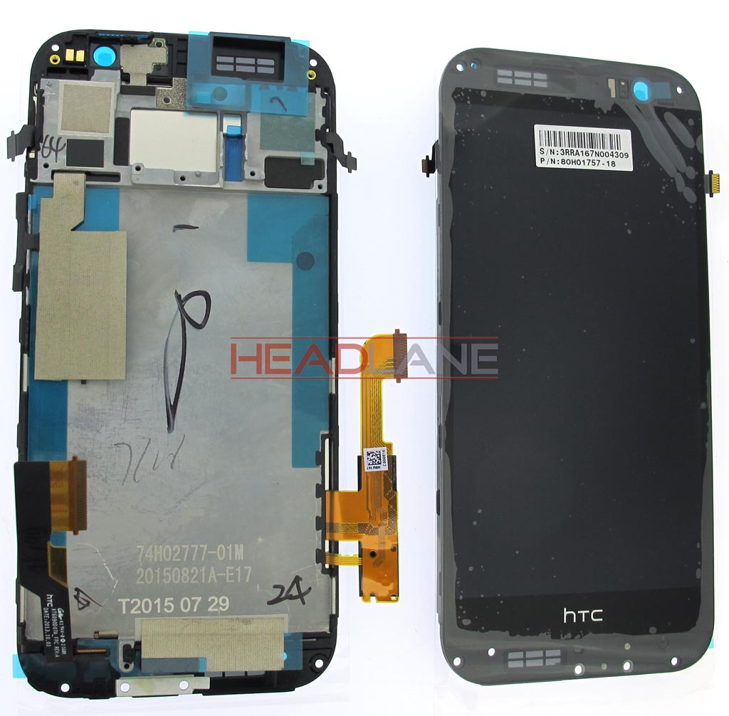 HTC One M8 LCD Display / Screen + Touch - Black