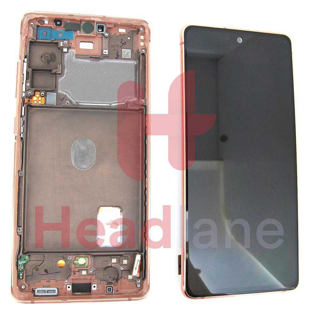 Samsung SM-G781 Galaxy S20 FE 5G LCD Display / Screen + Touch - Cloud Orange