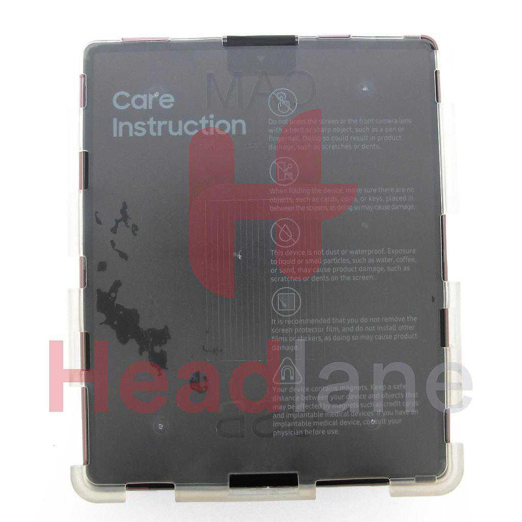 Samsung SM-F916 Galaxy Z Fold2 5G LCD Display / Screen + Touch - Mystic Bronze (Silver Hinge)