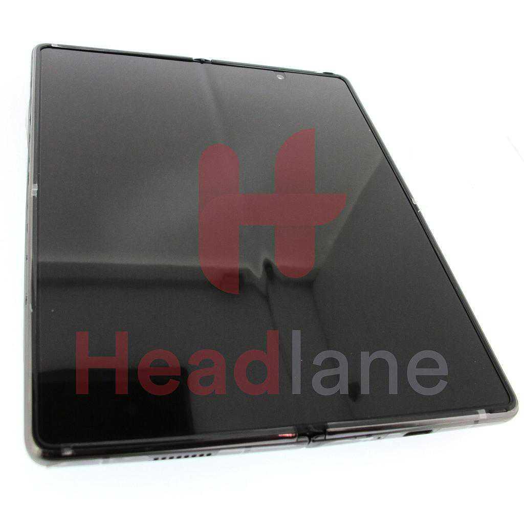 Samsung SM-F916 Galaxy Z Fold2 5G LCD Display / Screen + Touch - Mystic Black (Blue Hinge)