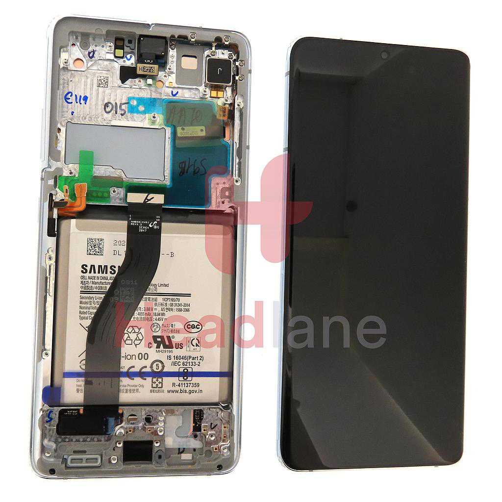 Samsung SM-G998 Galaxy S21 Ultra 5G LCD Display / Screen + Touch + Battery - Phantom Silver