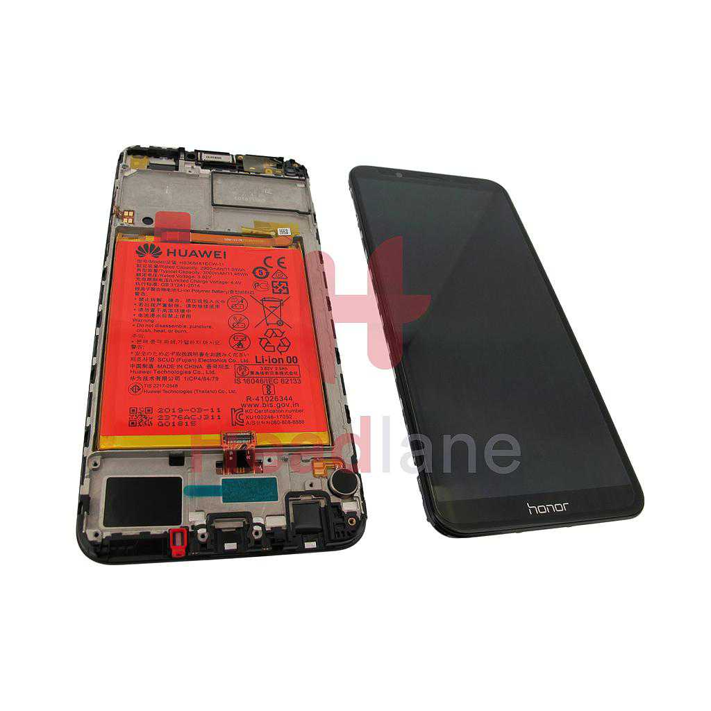 Huawei Honor 7C LCD Display / Screen + Touch + Battery - Black