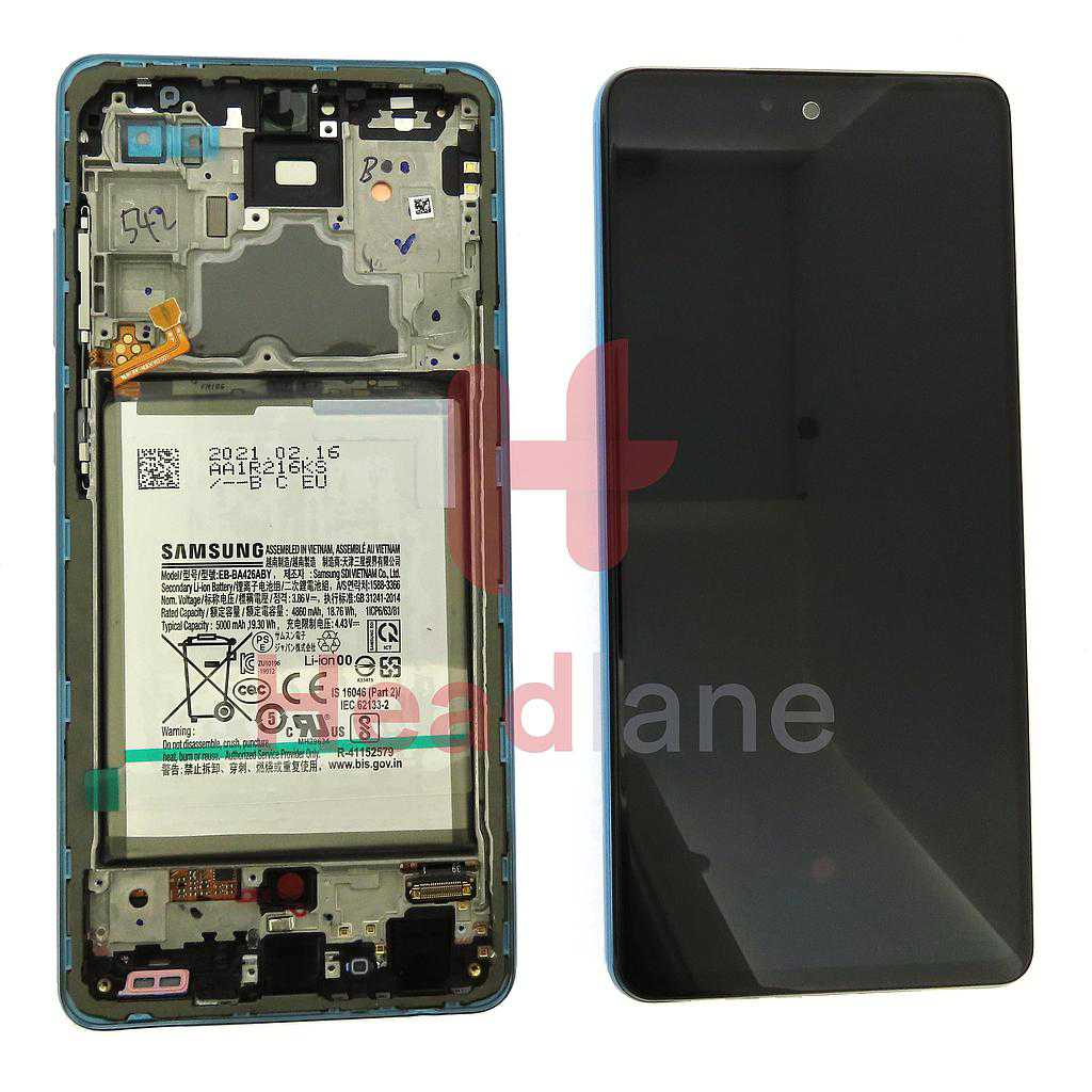 Samsung SM-A725 Galaxy A72 4G LCD Display / Screen + Touch + Battery - Blue