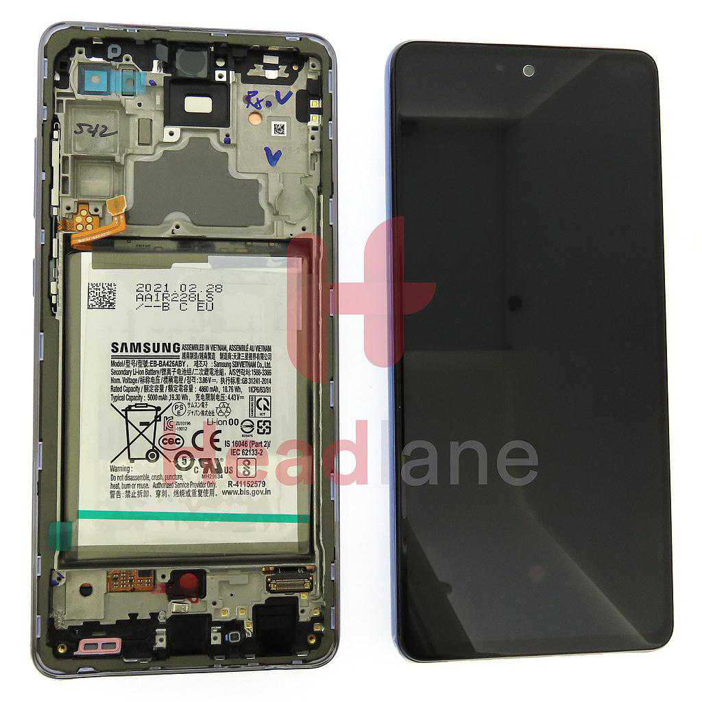 Samsung SM-A725 Galaxy A72 4G LCD Display / Screen + Touch + Battery - Violet