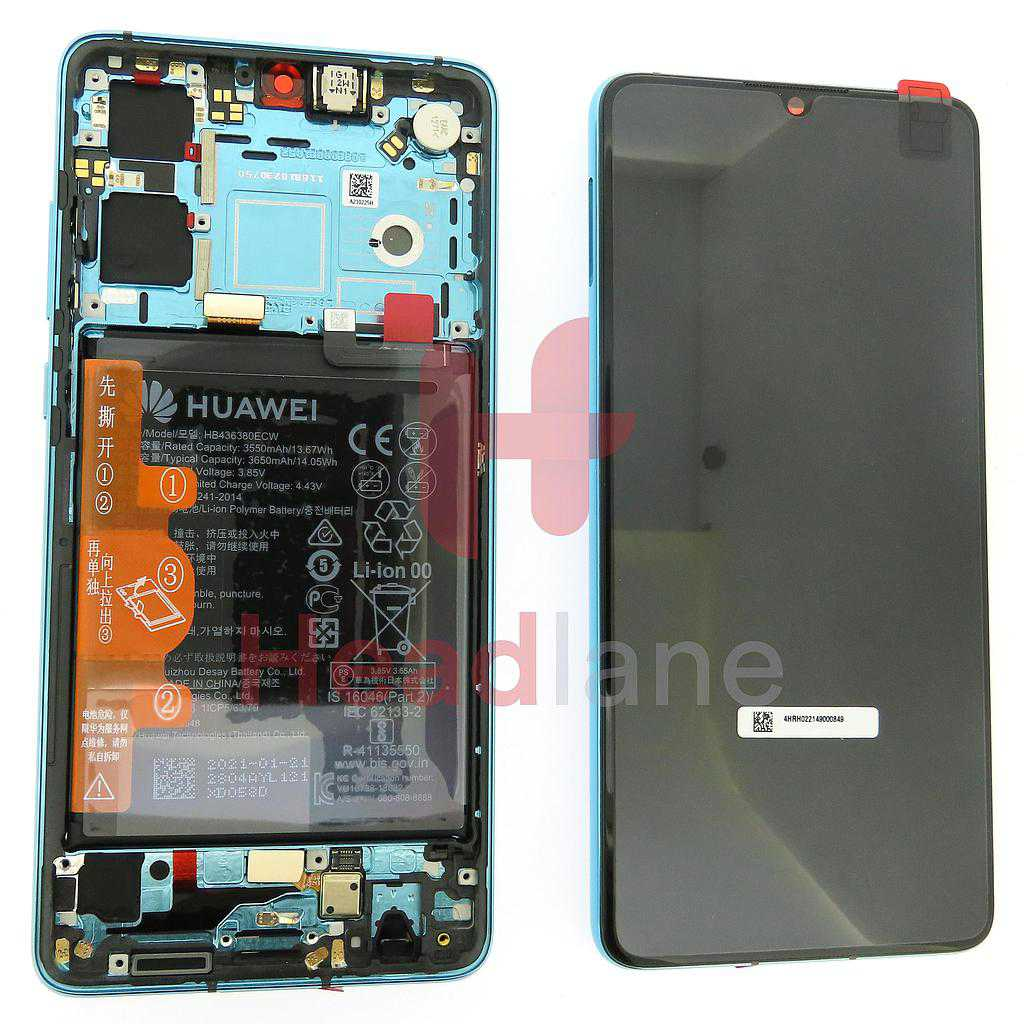 Huawei P30 LCD Display / Screen + Touch + Battery Assembly - Aurora Blue (New Version)