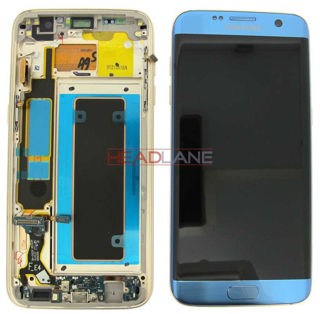 Samsung SM-G935F Galaxy S7 Edge LCD Display / Screen + Touch - Coral Blue (No Box)