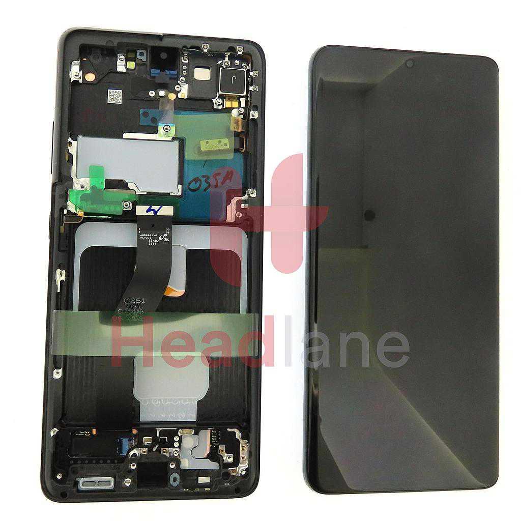 Samsung SM-G998 Galaxy S21 Ultra 5G LCD Display / Screen + Touch - Phantom Black (No Camera)