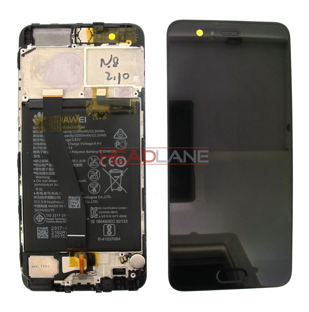 Huawei P10 LCD Display / Screen + Touch + Battery Assembly - Black