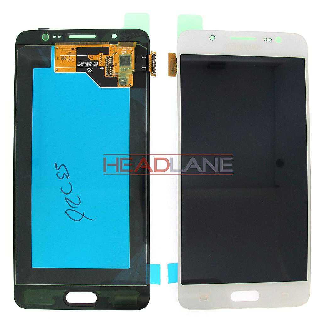 Samsung SM-J510 Galaxy J5 (2016) LCD Display / Screen + Touch - White