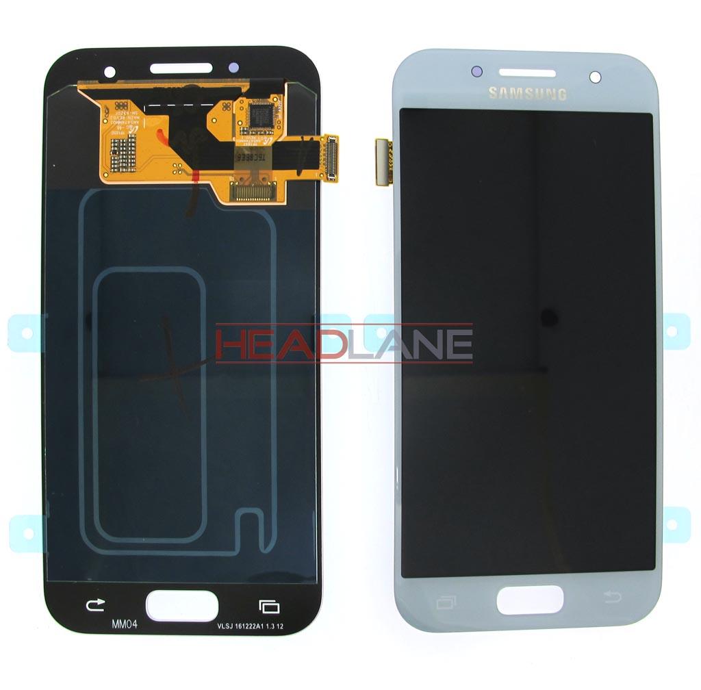 Samsung SM-A320 Galaxy A3 (2017) LCD Display / Screen + Touch - Blue